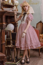 Memory of Floria~ Vintage Lolita OP Short/Long Version-Ready Made