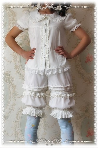 Infanta Chiffon Lengthen-style Bloomers - 2 Colors