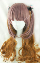 Rosy Brown Dark Orange Curls Lolita Wig