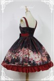 Hyakki Yakō  Nine-tailed Fox***  Gothic Lolita JSK Dress with Side Open Design
