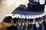 Nine Ode ~Nation of Dawn & Dusk Elegant High Waist Lolita JSK -Ready Made