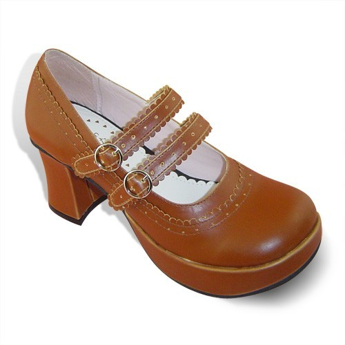 Lolita Two Straps Coffee Princess Shoes