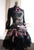 Strawberry Witch ***Sakura and Crane*** Printed Qi Lolita OP Dress