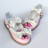 Sweet Bows Strawberry Lolita Low Heels Shoes