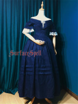 Surfacespell ~ The Duchess*Rococo~ Elegant Jacquard Lolita OP -Custom Tailor Available
