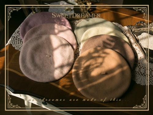 Vintage Winter Unicolor Lolita Beret - Multiple Colors
