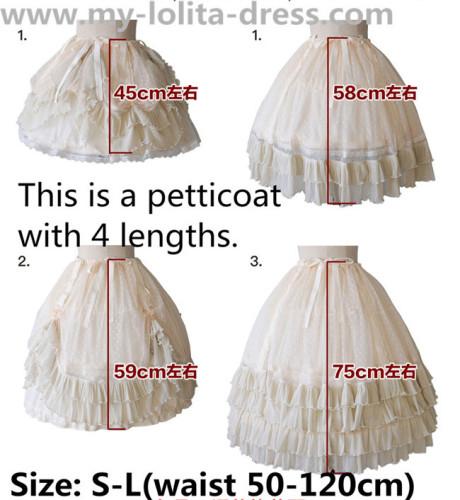 Missing A Piece Lolita Fishbones Petticoat 9 Wear Ways