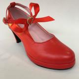 High Heel Sweet Pink Bow Lolita Shoes