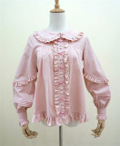 Little Dipper Young Madam~ Cotton lolita Long Sleeves Blouse -Ready Made