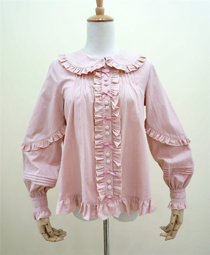 Little Dipper Young Madam~ Cotton lolita Long Sleeves Blouse