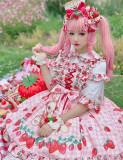 Diamond Honey ~Strawberry Picnic Rabbit Lolita Jumper