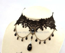 Lace Retro Pendant Lolita Choker for Parties