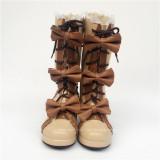 Sweet Bows Lolita Mid-calf Boots