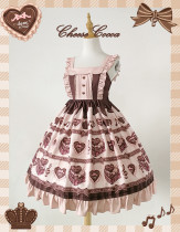 Chocolate Love~ Sweet High Waist Lolita Jumper
