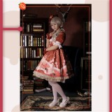 The Clock Adventure~ Sweet Lolita Short Sleeves OP Dress