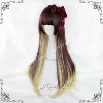 70cm Afternoo Tea Rrown Pale Goldrod Lolita Wig