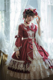 Miss Point ~ Elizabeth ~ Elegant Lolita OP Tea Party Version -Custom Tailor Available