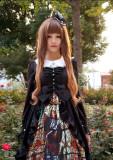 Surface Spell Vintage Gothic Black Lolita JSK Dress