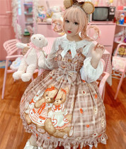 Diamond Honey ~Teddy Bear Chiffon Lolita JSK
