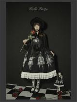 Antique Paper Doll~ Black Lolita JSK Dress -Pre-order