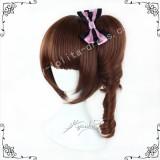 Red Brown Face Framing Lolita Wig 2 Ponytails