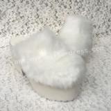 Sweet White Imitate Bunny Fur Lolita Heels Shoes High Platform