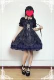 Neverland Lolita -Fly Me to Polaris- Gold Stamping Chiffon Lolita JSK -In Stock
