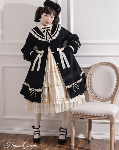 HinanaQueena ~Ferna Series Winter Wool Lolita Coat -Ready Made