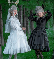 Vintage Lolita Long Sleeves OP Dress