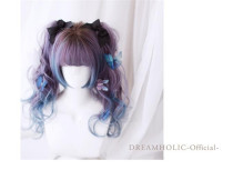 Catherine's Afternoon Tea with Cat~ Natural Bangs Lolita Wig With Two Ponytails