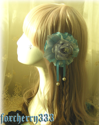 Lolita Double Layer Flower Balls Headdress