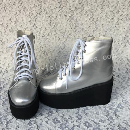 Sweet Silver Lolita High Platform Boots