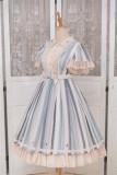 Fantastic Wind ~Ukulele~ Embroidery Stripe Classic Lolita JSK