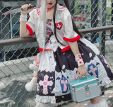 Diamond Honey ~Sweet and Cool Maiden Punk Lolita JSK -Pre-order