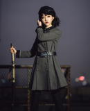 Your Highness ~The Oath Of The Judge * The Maiden with Two Swords Minlitary Lolita OP -Pre-order