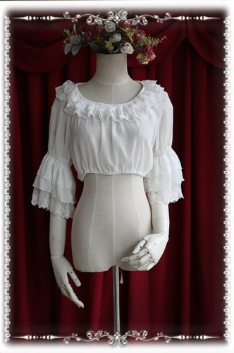 Infanta Hime Sleeves Chiffon Lolita Short Version Blouse