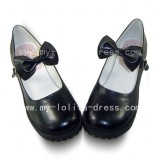 Beautiful Tea Party Shoes with Knots Maid Shoes