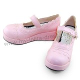 Pink Unicolor Lolita Shoes