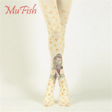 Heart Fish~ 120D Velvet  Lolita Printed Tights