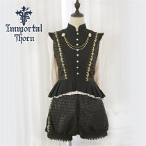 An Immortal Engagement Invitation Ouji Lolita Set(Vest + Blouse + Short Pants) -Ready Made