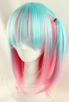 Light Blue Pink Bobo Lolita Wig