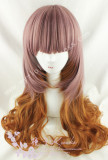 Rosy Brown Dark Orange Curls Lolita Wig