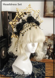 Gothic Rococo The Sick Rose Crown Headdress Set -Ready Made
