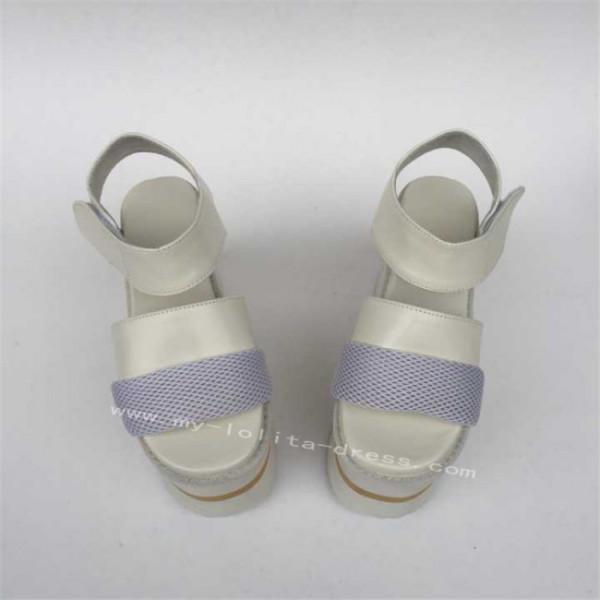 Beautiful Matte Double Colors Soles Lolita High Platform Shoes