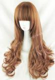 Sweet Brown Pink Curls Lolita Wig
