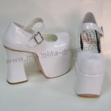 High Platform Black Buckle Lolita Shoes