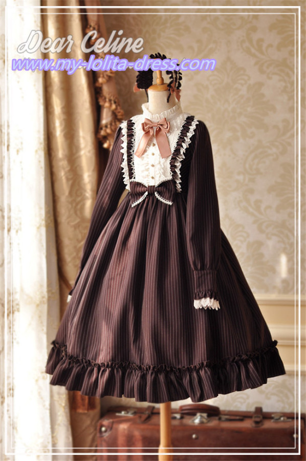 Berlin Maiden~ College Style Stripe Lolita OP -Ready Made