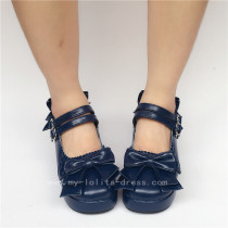 Sweet Double Straps Bows Lolita Shoes
