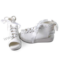 White Sash Bow Lolita Sandals