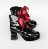 Purple Platform Lolita Shoes White Bow